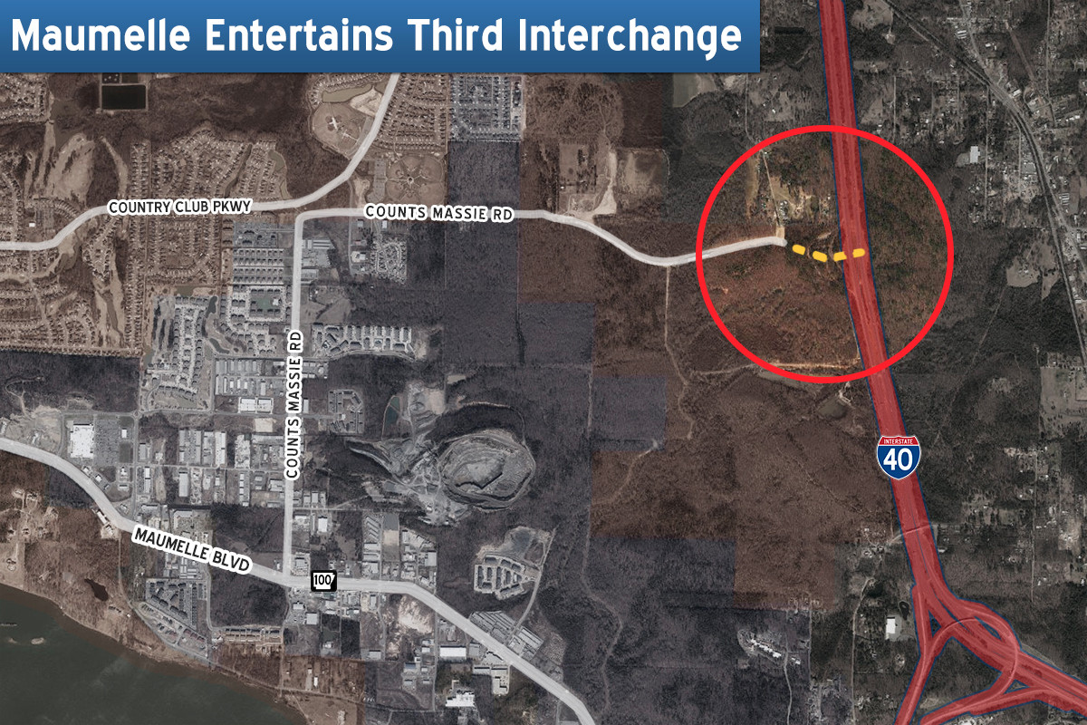 I 40 Arkansas Map.Construction Of Third Maumelle Interchange Set To Begin On I 40