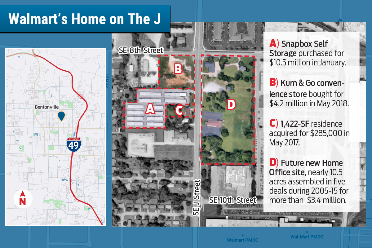Walmart Acquires More of Hometown Bentonville | Arkansas ... on southern river id map, counties of alabama map, idaho road map, cleveland ohio airport map, twin falls idaho map, cleveland municipal airport map, louisiana texas map, graysville alabama street map, ladd-peebles stadium map,