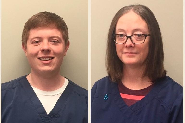 Dylan Hawf and Kimberly Morgan, Washington Regional Hospice