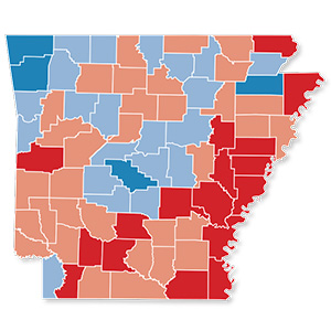 Two-Thirds of Arkansas Counties Lose Residents