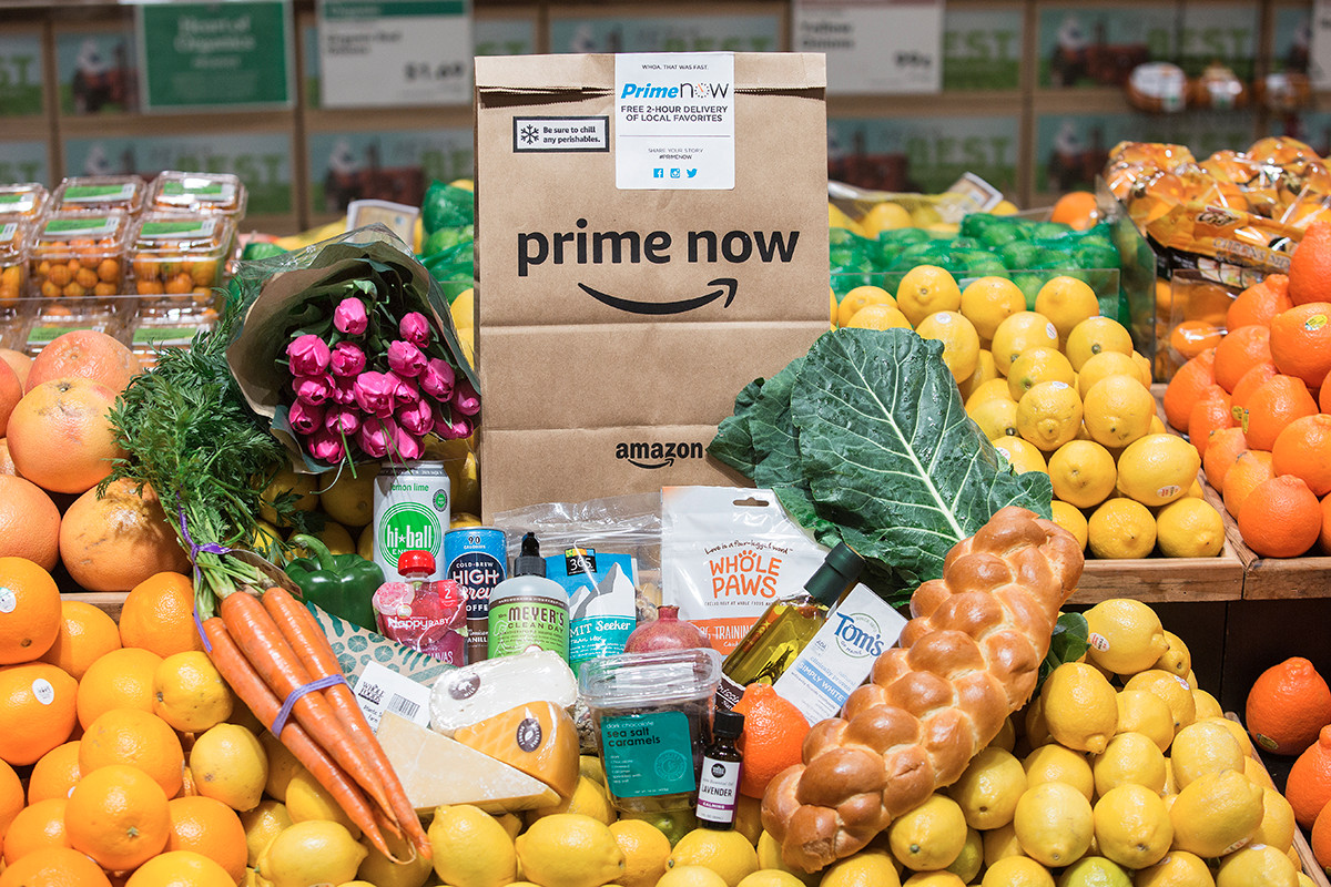 Amazon Now is offering free grocery deliveries to Amazon Prime members from the Whole Foods Market on Bowman Road in Little Rock.