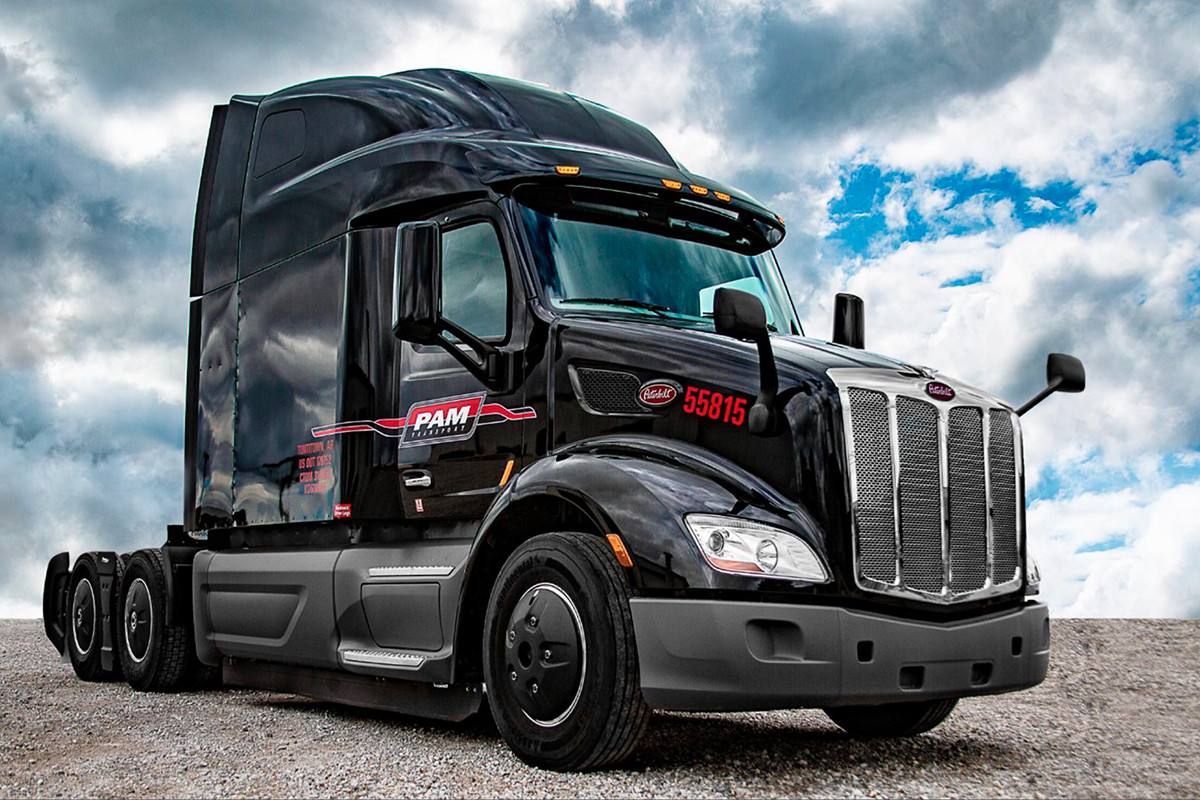 pam transport reports 2q income incease