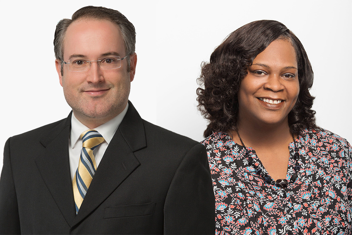 Andrew Marsh and Chey Reynolds of Crews & Associates