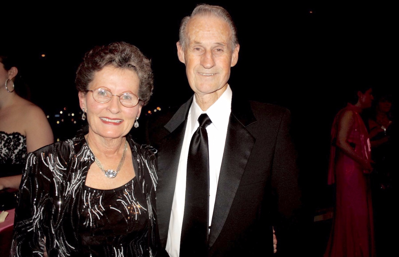 Bob Shell and his wife Ginny in 2014.