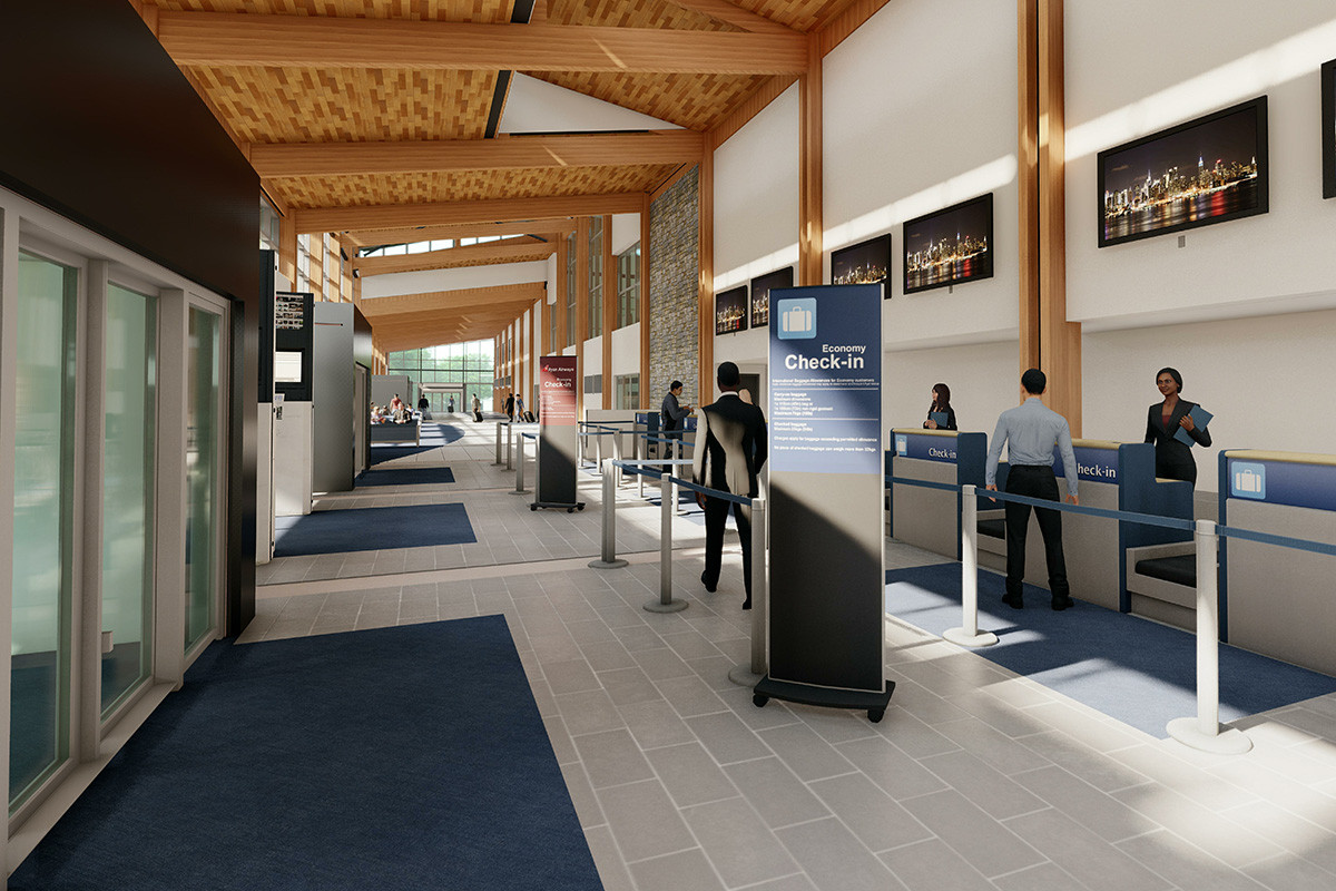 A look at the planned ticketing area of the new terminal at the Texarkana Regional Airport.