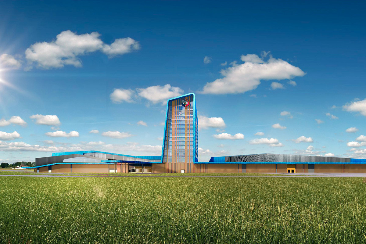 An architectural rendering of the $350 million Saracen Casino Resort in Pine Bluff.  Construction, which started last month, is expected to be completed by the end of next year.