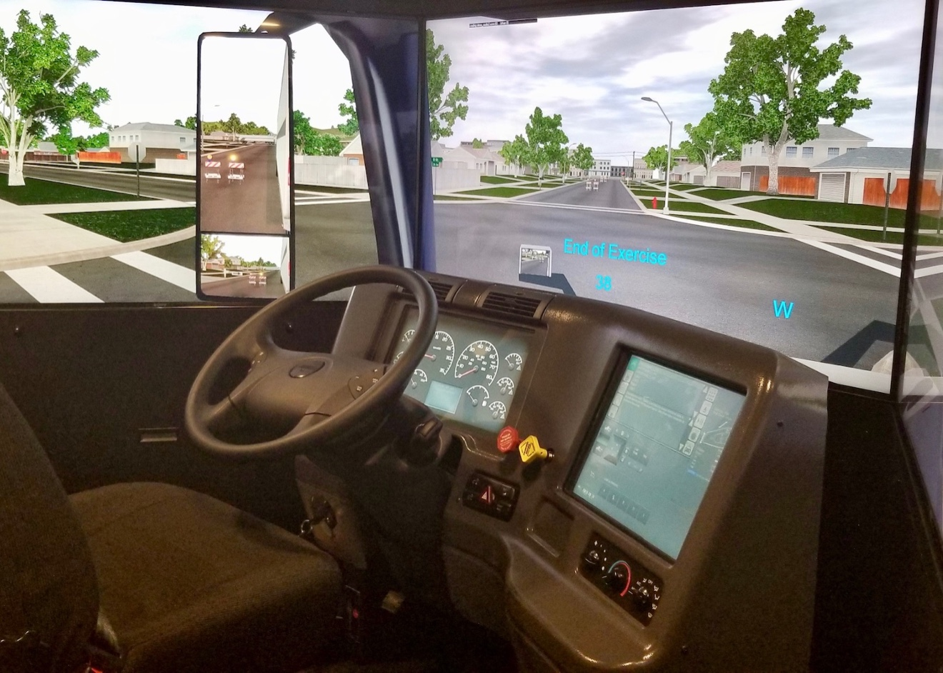 Inside the new Be Pro Be Proud mobile unit, visitors can try their hand at driving an 18-wheeler, virtually of course.