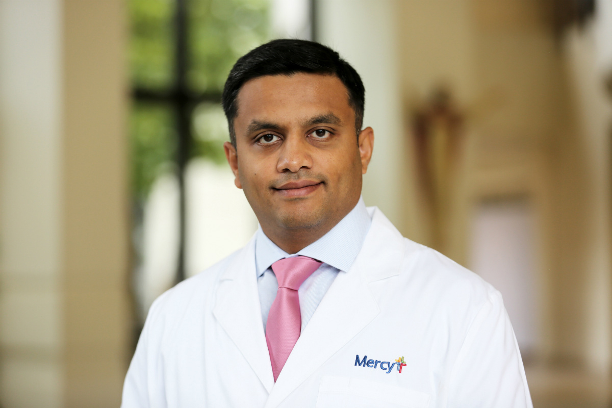 Dr. Aniket Sakharpe of Mercy Hospital in Fort Smith.