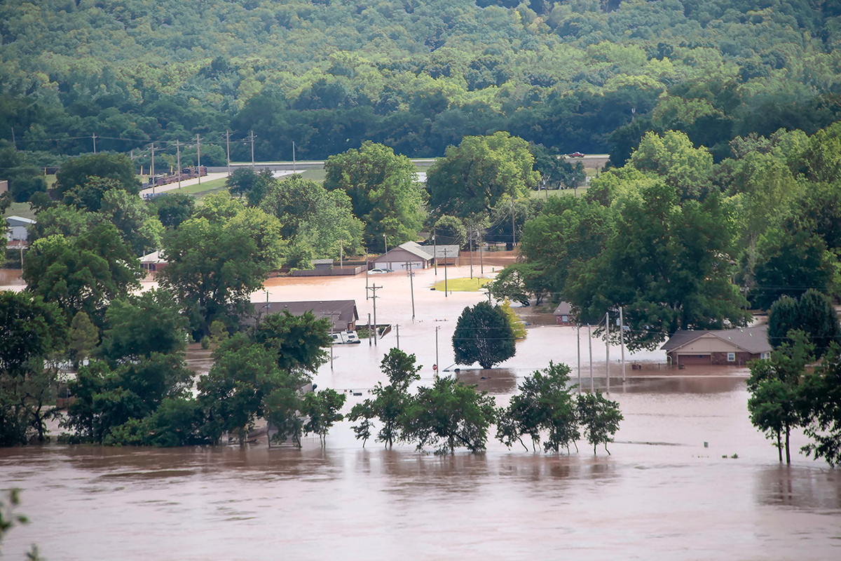Floodwaters engulfed homes and businesses as the Arkansas River rose in May and early June of this year.