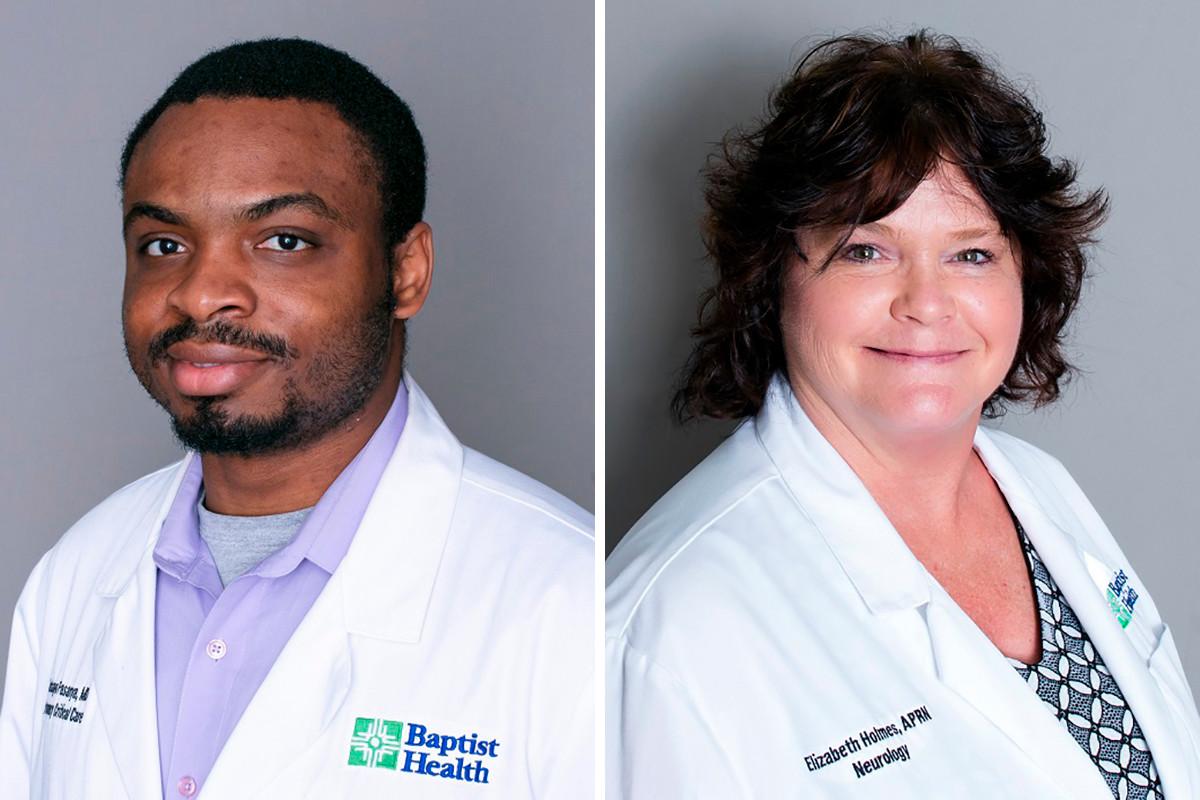 Dr. Adebayo Fasanya and Elizabeth Holmes of Baptist Health Family & Pediatric Clinic in Van Buren.