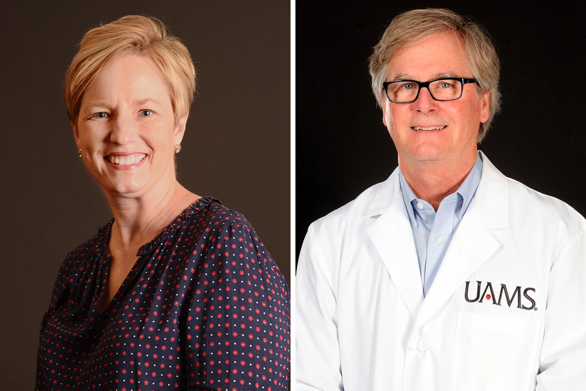 Dr. Laura James and Dr. G. Thomas Frazier of the UAMS in Little Rock.
