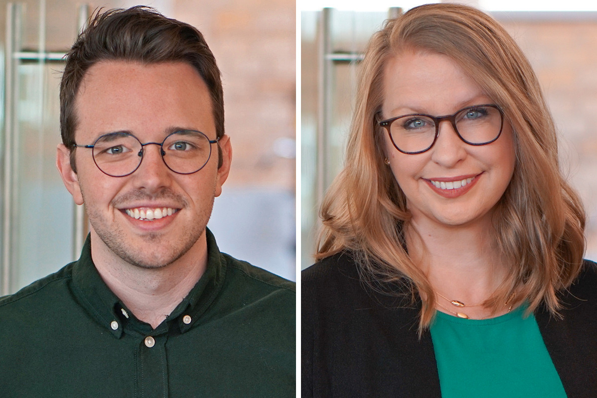 Cody Snellenberger and Mandy Breckenridge of Polk Stanley Wilcox Architects in Little Rock.