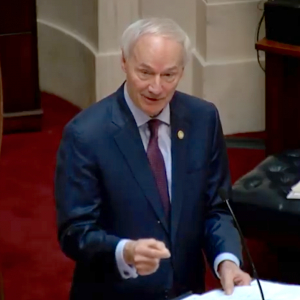 Asa Hutchinson: Easing Virus Surgery Limits a Priority