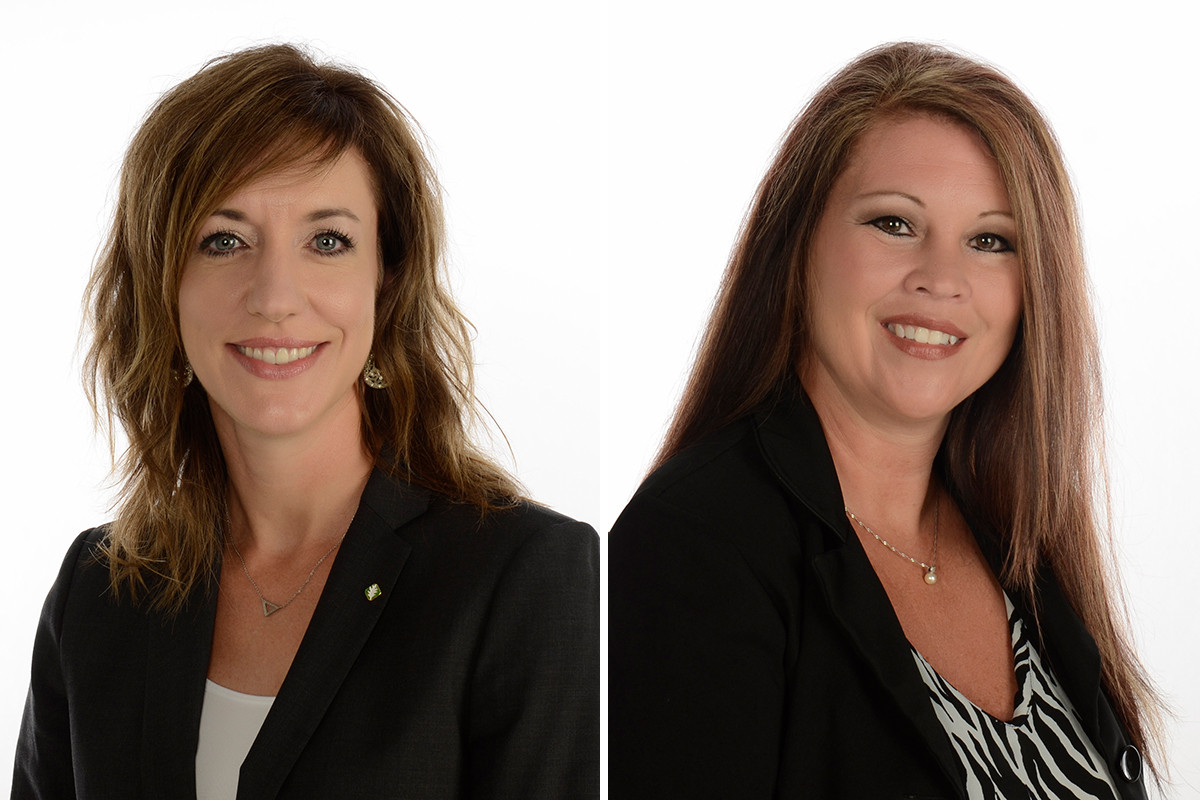 Katherine Polczynski and Melissa Kleusner of Relyance Bank in Hot Springs.