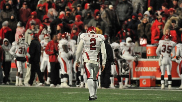 Arkansas kicker Alex Tejada helped the Razorbacks win the 2010 Liberty Bowl. But the inconsistency of Tejada and other Razorback kickers over the years were a source of great frustration for fans.