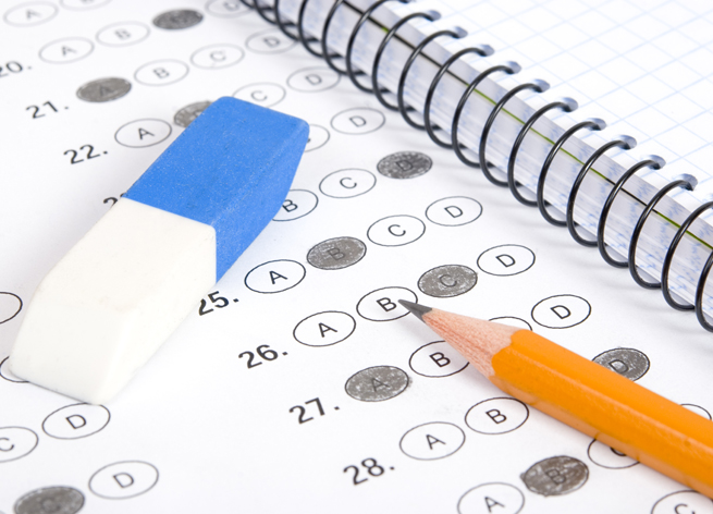 eraser pencil scantron act sat