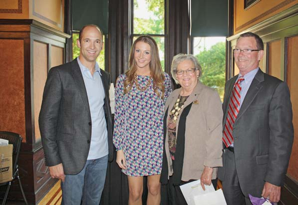 Dr. DJ Dailey, Erin Hohnbaum with her grandmother, Marj Hohnbaum and father, Mark Hohnbaum