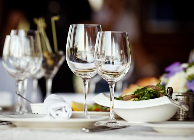 Wine Glasses Set Table Formal