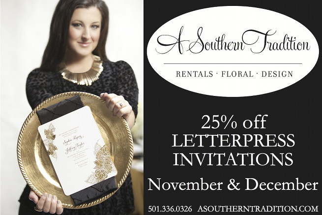 a southern tradition, letterpress invitations