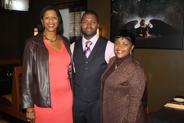 Dr. Robin Perry, Derek Lewis II, Dr. Rosetta Shelby-Calvin