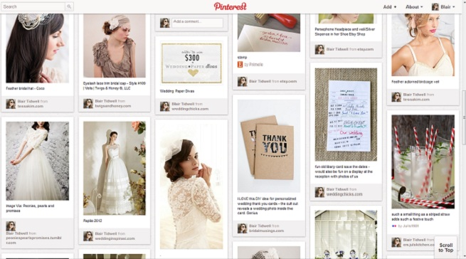 Confessions of a Real Arkansas Bride, Secret Wedding Board on Pinterest, Bridezilla, Pinterest, Arkansas Bride