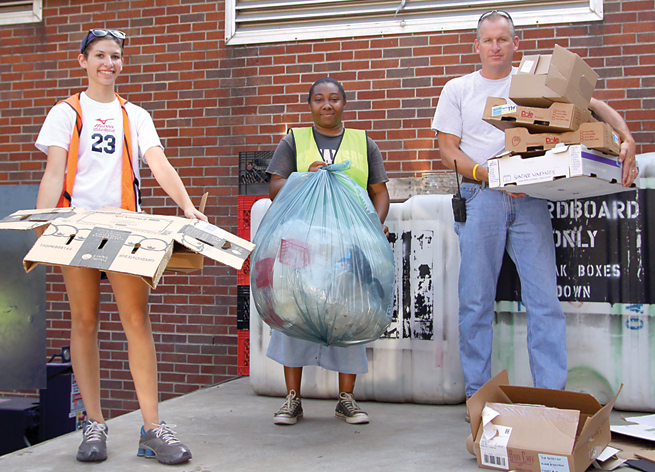 Steve Brankle John Brown University trash recycling