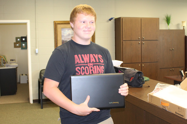 Laptop Giveaway Winner: Ninth Grader Collin Steele of Greene County Tech Junior High