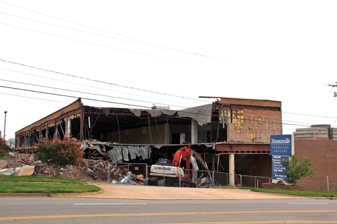 Superieur Demolition Has Begun On The Former Brandon House Furniture Showroom In Little  Rock. (Luke Jones)