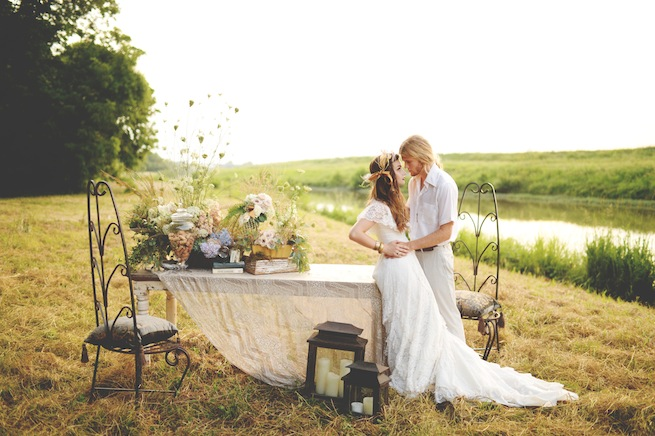 Country Vintage Dinner Engagement By Stephanie Parsley
