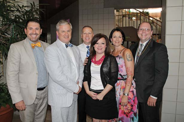 Rick Hall, Bobby Harris, Chris and Kimberly Shaw, Dennis and Dr. Erin McKelvey