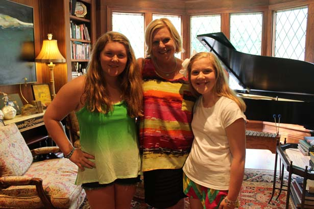Ann Brown (center) with her daughters Emily and Annabelle