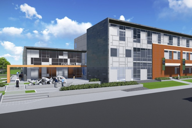 Cdi contractors to build 15 million visual arts center at for Smith house construction