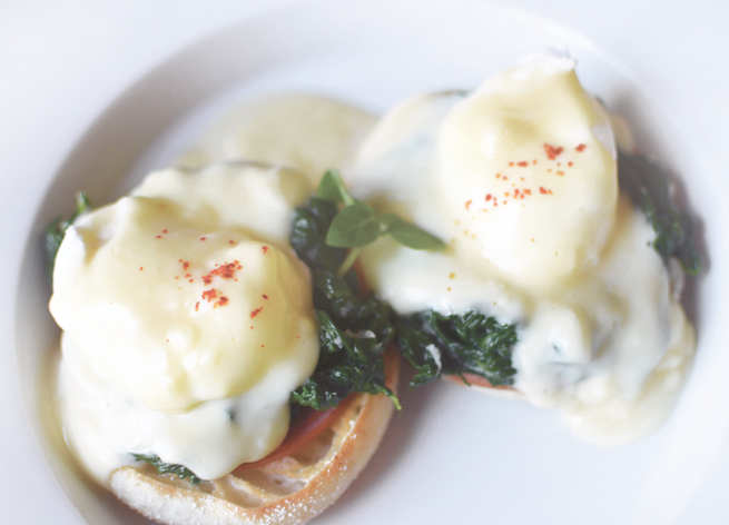 Traditional eggs Benedict from Ashley's at the Capital Hotel