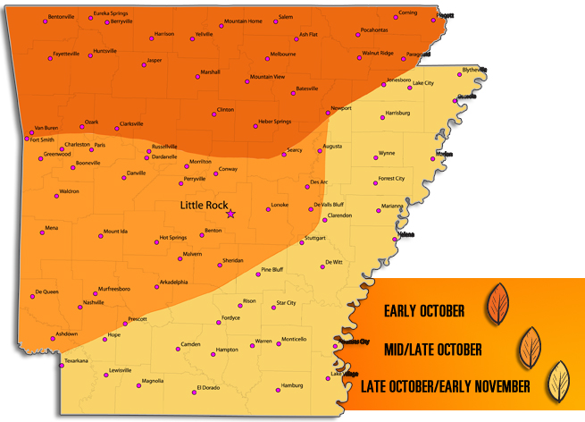 Arkansas Fall Colors 2020.Fall Foliage Where When To Catch Autumn Leaves In
