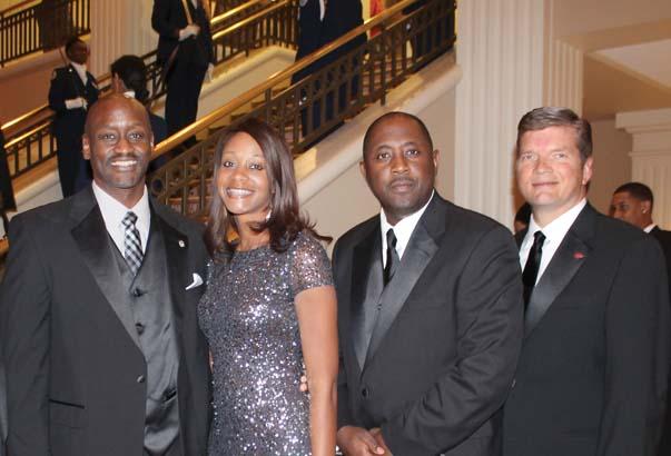Charles Robinson, Reynelda Robinson, Dr. Calvin White, Ben Carter