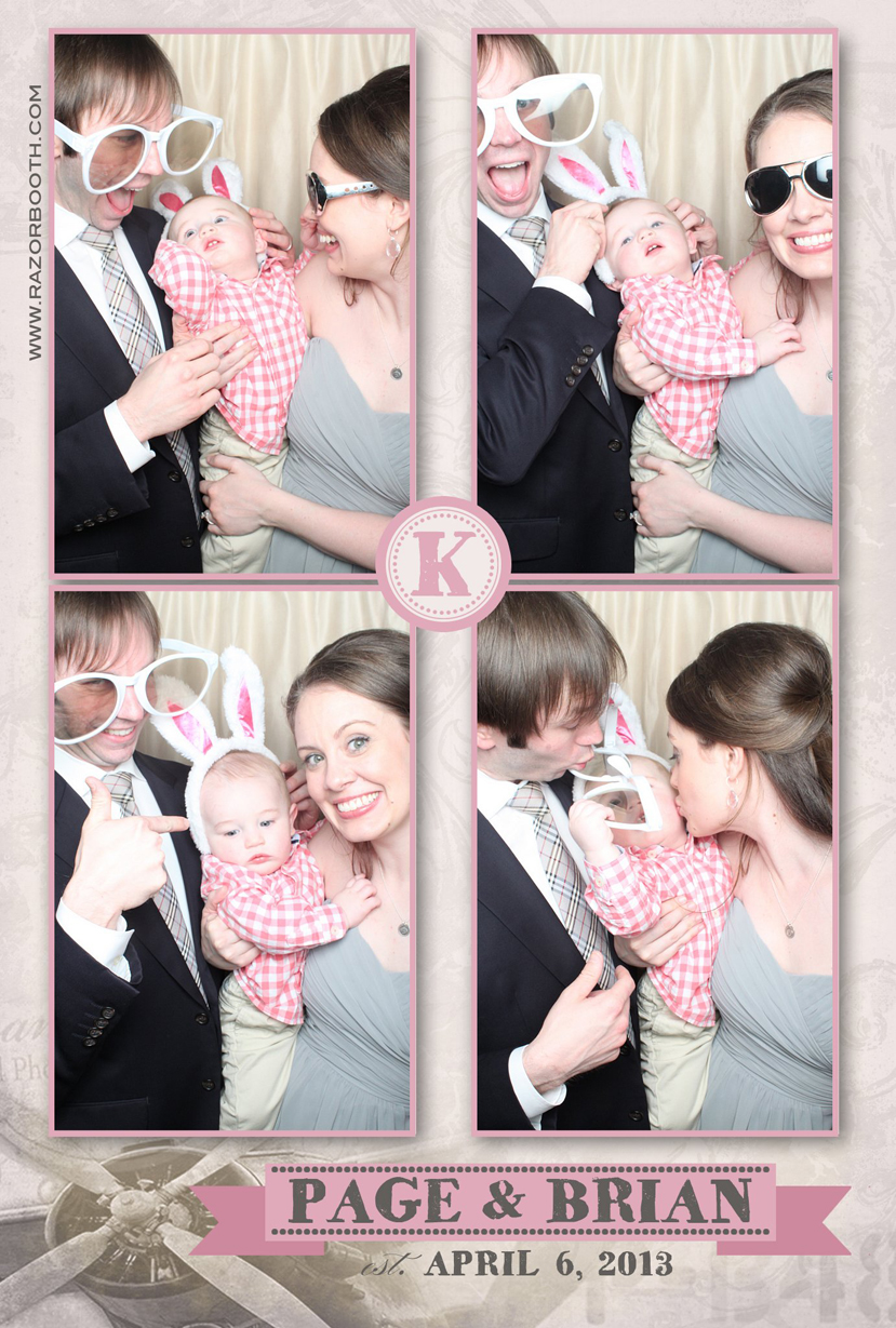 Page and brian, Razorbooth, photobooth prints