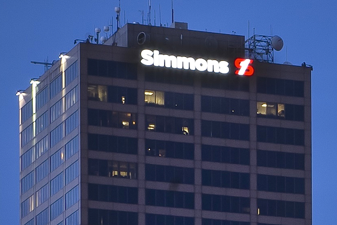 Simmons Name Appears on Arkansas' Tallest Building