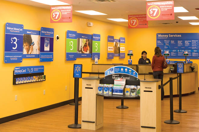 wal marts latest expansion into the financial services sector includes offering customers money transfers and the ability to shop for auto insurance