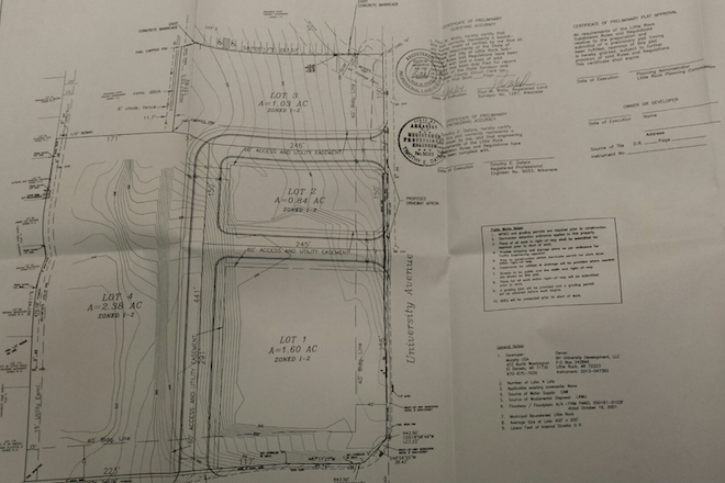 BH University Development LLC Has Filed Applications With The Little Rock  Planning Commission To Redevelop The 4.92 Acres Into A Four Lot Subdivision.