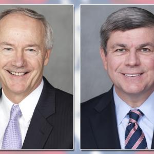 Mike Ross, Asa Hutchinson Spar over Tax Cuts, Ads in Debate