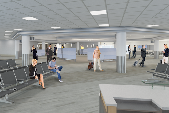 Clinton National Airport Reveals $20M Concourse Renovation Plans