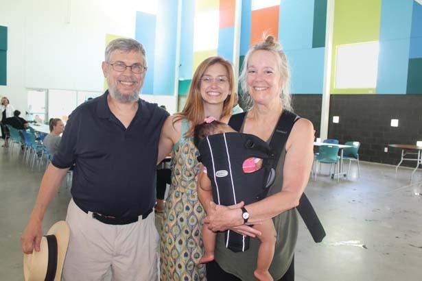 Georgia Mjartan with her parents, Peter and Karen Miller, and her daughter, Melody