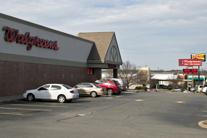 The Walgreens store at the corner of Highway 107 and Kiehl Avenue in Sherwood was built in 1995.