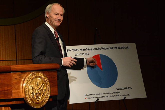 Asa Hutchinson Walks Fine Line in Medicaid Speech (Andrew DeMillo Analysis)