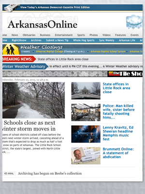 Arkansas Democrat-Gazette Loosens Once-Rigid Pay Wall