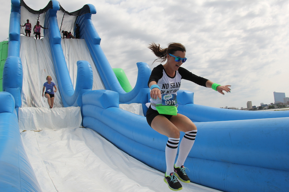 Insane inflatable 5k coming this summer little rock family for Insane inflatable 5k shirt