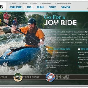 Parks & Tourism's Arkansas.com Gets Touch-Up