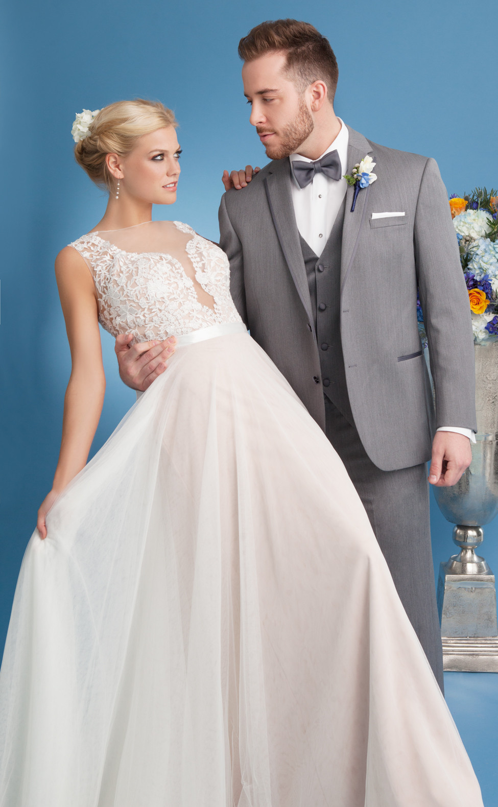 Something Blue: 12 Choice Wedding Gowns for Fall/Winter Brides