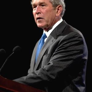 In Little Rock, Bush, Clinton Talk Immigration
