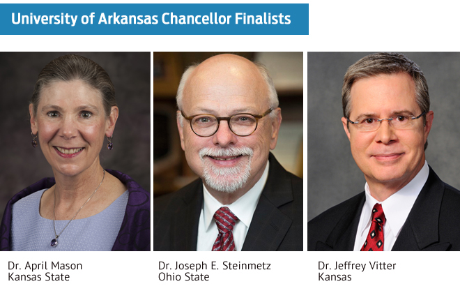 UA Selects 3 Finalists for Fayetteville Chancellor Position